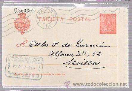 TARJETA POSTAL SELLO MIGUEL GALVEZ. MADRID. FIRMA DE GALVEZ (Postales - Postales Temáticas - Publicitarias)