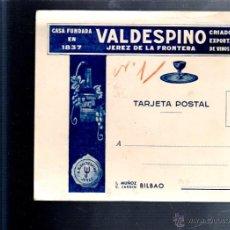 Postales: TARJETA POSTAL PUBLICITARIA. VALDESPINO. JEREZ DE LA FRONTERA, CADIZ. VINOS Y COÑAC.. Lote 52494374