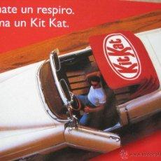 Postales: TÓMATE UN RESPIRO. TOMA UN KIT KAT. NESTLÉ.. Lote 52634814