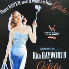 Postales: THERE NEVER WAS A WOMAN LIKE GILDA!. ATENEO CULTURAL 1º DE MAYO CC.OO.. Lote 52648111