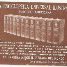 Cartoline: ENCICLOPEDIA UNIVERSAL ILUSTRADA. EUROPEA AMERICANA. - VELL I BELL. Lote 52661790