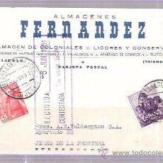 Postales: TARJETA POSTAL PUBLICITARIA. ALMACENES COLONIALES FERNANDEZ... Lote 52829130