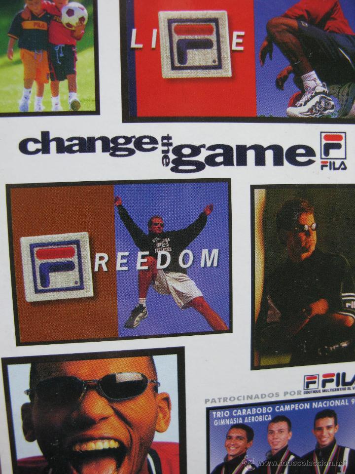 CHANGE THE GAME. FILA. TRIO CARABOBO CAMPEÓN NACIONAL 98 GIMNASIA AERÓBICA. CARACAS. VENEZUELA. (Postales - Postales Temáticas - Publicitarias)