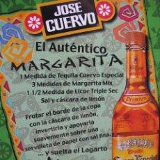 Postales: JOSE CUERVO. EL AUTÉNTICO MARGARITA. CARACAS. VENEZUELA. 1998.. Lote 52857322