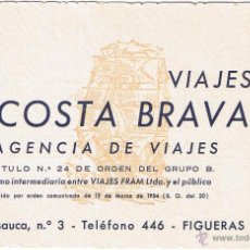 Postales: GERONA - FIGUERAS - VIAJES COSTA BRAVA - VIAJES FRAM. Lote 52860407