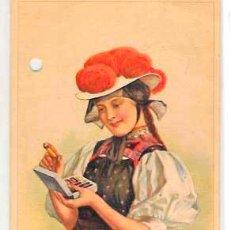 Cartes Postales: POSTAL PUBLICITARIA DE SEDAS GÜTERMANN. CIRCULADA EN 1933. Lote 52961245