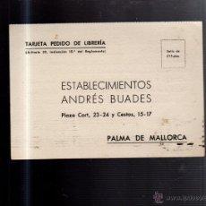 Postcards - TARJETA POSTAL PUBLICITARIA. ANDRES BUADES. PALMA DE MALLORCA. 1947 - 52997932