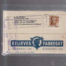 Postales: TARJETA POSTAL PUBLICITARIA. RELIEVES FABREGAT. BARCELONA. 1957. Lote 53055026