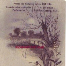 Postales: ARAHAL, SEVILLA, BARBERIA DE AURELIO MENA, POSTAL PUBLICITARIA PERFUMES ANFORA. Lote 53135294