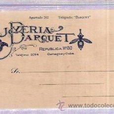 Postales: TARJETA POSTAL PUBLICITARIA. JOYERIA DARQUET. CAMGÜEY. CUBA.. Lote 53215428