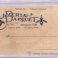 Postales: TARJETA POSTAL PUBLICITARIA. JOYERIA BARQUET. CAMGÜEY. CUBA.. Lote 53215456