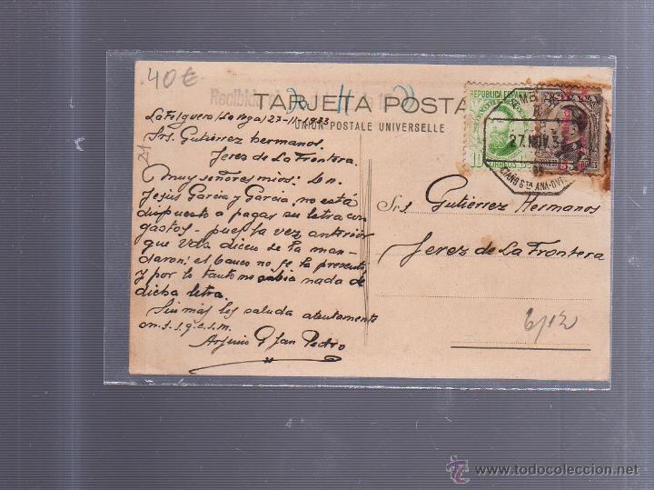 Postales: TARJETA POSTAL PUBLICITARIA. GUTIERREZ HERMANOS.. JEREZ. VINOS, COÑACS, CHAMPAGNE. - Foto 2 - 53431116