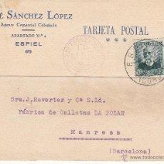 Postales: TARJETA POSTAL COMERCIAL DE JOSÉ SÁNCHEZ LÓPEZ DE ESPIEL - CÓRDOBA- 1934. Lote 53647400