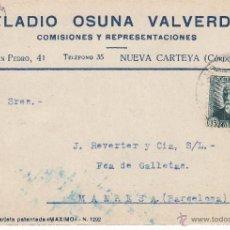 Postales: TARJETA POSTAL COMERCIAL DE ELADIO OSUNA DE NUEVA CARTEYA-CÓRDOBA- 1934. Lote 53651072
