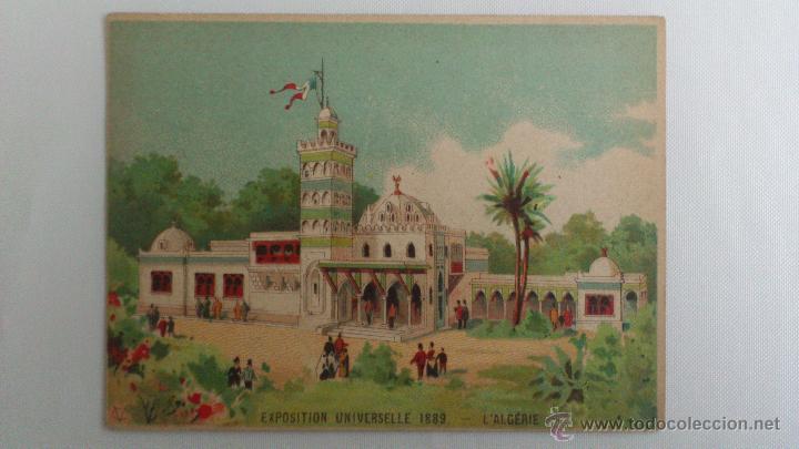 TARJETA PUBLICIDAD, VINO DE BUGEAUD, TONICO NUTRITIVO, EXPOSICION UNIVERSAL 1889, ARGELIA (Postales - Postales Temáticas - Publicitarias)