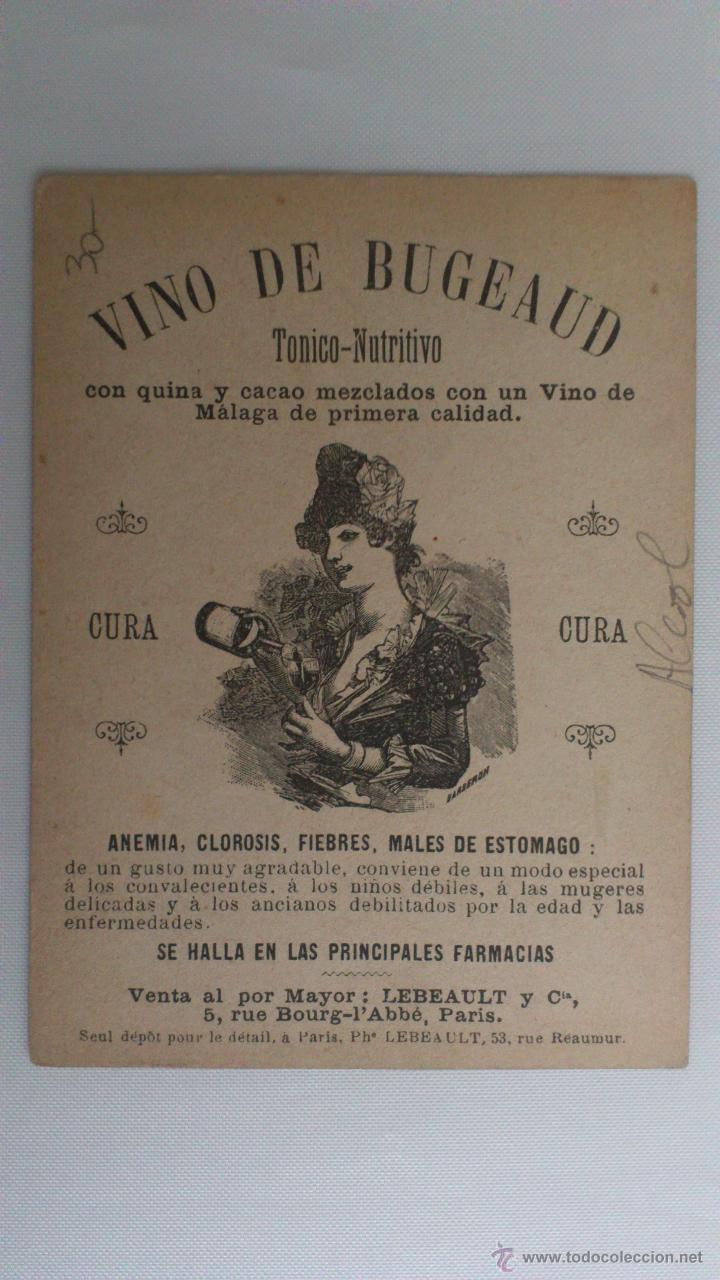 Postales: TARJETA PUBLICIDAD, VINO DE BUGEAUD, TONICO NUTRITIVO, EXPOSICION UNIVERSAL 1889, ARGELIA - Foto 2 - 53821361