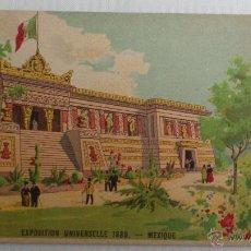 Postales: TARJETA PUBLICIDAD, VINO DE BUGEAUD, TONICO NUTRITIVO, EXPOSICION UNIVERSAL 1889, MEXICO. Lote 53821478