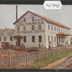 Postales: GUERNICA - LECHE CONDENSADA LOS PIRINEOS - PUBLICITARIA - (40545). Lote 54027140