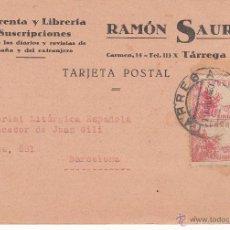 Postales: TARJETA POSTAL COMERCIAL DE IMPRENTA RAMÓN SAURET DE TÁRREGA --1940---. Lote 54231219