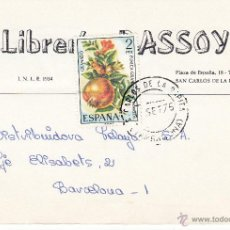 Postales: TARJETA POSTAL COMERCIAL DE LIBRERÍA DASSOY DE SANT CARLES DE LA RÀPITA --1975---. Lote 54252454