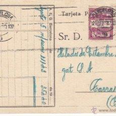 Postales: TARJETA POSTAL COMERCIAL DE A.E.G. IBÉRICA ELECTRICIDAD DE BARCELONA --1930--. Lote 54337823