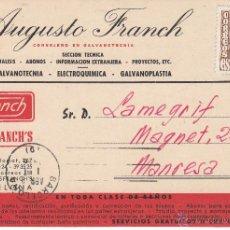 Postales: TARJETA POSTAL COMERCIAL DE AUGUSTO FRANCH DE BARCELONA. Lote 54340198