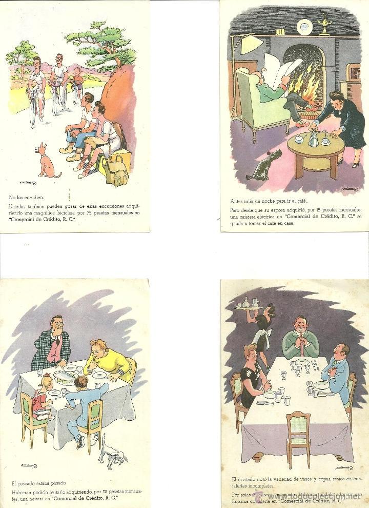 2277.-VALENTI CASTANYS-POSTALES DE PUBLICIDAD DE COMERCIAL DEL CREDITO (Postales - Postales Temáticas - Publicitarias)
