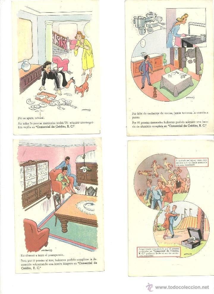 Postales: 2277.-VALENTI CASTANYS-POSTALES DE PUBLICIDAD DE COMERCIAL DEL CREDITO - Foto 2 - 54694375