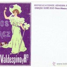 Postales: PS5625 POSTAL PUBLICITARIA DE VINOS DE JEREZ - A.R. VALDESPINO Y Hº. SIN CIRCULAR. PRINC. S. XX. Lote 48020255