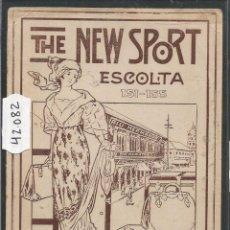 Postales: THE NEW SPORT - ESCOLTA RIU HERMANOS - POSTAL PUBLICITARIA - VER REVERSO - (42082). Lote 54955908