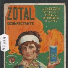 Postales: ZOTAL - DESINFECTANTE JABON - POSTAL PUBLICITARIA - VER REVERSO - (42084). Lote 54955932