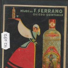 Postales: ANIS DE LA ASTURIANA - POSTAL PUBLICITARIA - VER REVERSO - (42092). Lote 55035527