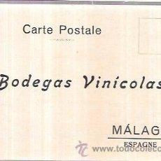 Postales: TARJETA POSTAL PUBLICITARIA. BODEGAS VINÍCOLAS. MÁLAGA. Lote 55047759