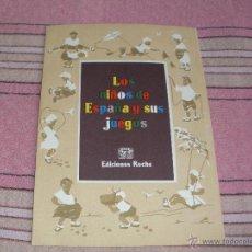 Postales: LOS NIÑOS DE ESPAÑA Y SUS JUEGOS - LABORATORIOS ROCHE - ORTIZ VALIENTE. Lote 55102496