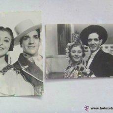 Postales: LOTE DE 2 POSTALES PUBLICITARIAS DE ESTA PAREJA DE BAILE ESPAÑOL. AÑOS 50. Lote 101121062