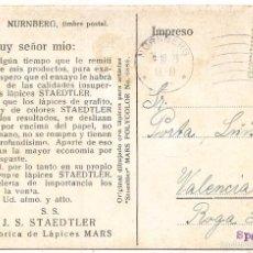 Postales: LÁPICES STAEDTLER. POSTAL ANTIGUA ALEMANA. Lote 55376147