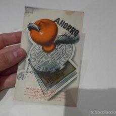 Postales: ANTIGUA POSTAL PUBLICITARIA DE CAJA DE AHORROS, PUBLICIDAD, BARCELONA, BANCO.. Lote 55575077