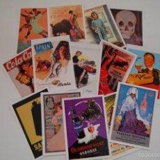 Postales: LOTE DE 14 POSTALES DE PUBLICIDAD MODERNAS.. Lote 56315805