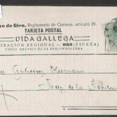 Postales: POSTAL PUBLICITARIA - PERIODICO VIDA GALLEGA - VIGO - VER REVERSO -(42.954). Lote 56462323
