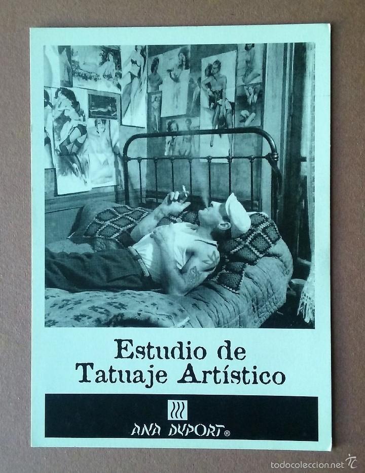 POSTAL ANA DUPORT. CENTRO DE PELUQUERIA Y ESTETICA. ESTUDIO DE TATUAJE ARTISTICO. LEON. (Postales - Postales Temáticas - Publicitarias)