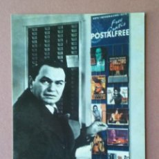 Postales: POSTAL PUBLICITARIA POSTALFREE. EDWARD G. ROBINSON. SIN CIRCULAR.. Lote 56598468
