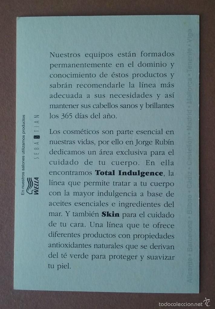 Postales: POSTAL JORGE RUBIN. SIENTE LA DIFERENCIA. SALONES DE PELUQUERIA. - Foto 2 - 56616705