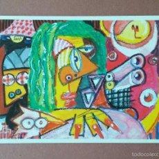 Postales: POSTAL LAMANDIBULA.COM. MUJER CON CERDO Y NIÑO ESCALABRADO. FRANZ PICATOST. FAEMINO Y CANSADO.. Lote 56617246