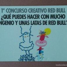 Postales: POSTAL TARJETA PUBLICITARIA 1º CONCURSO CREATIVO RED BULL. SIN CIRCULAR.. Lote 56618376