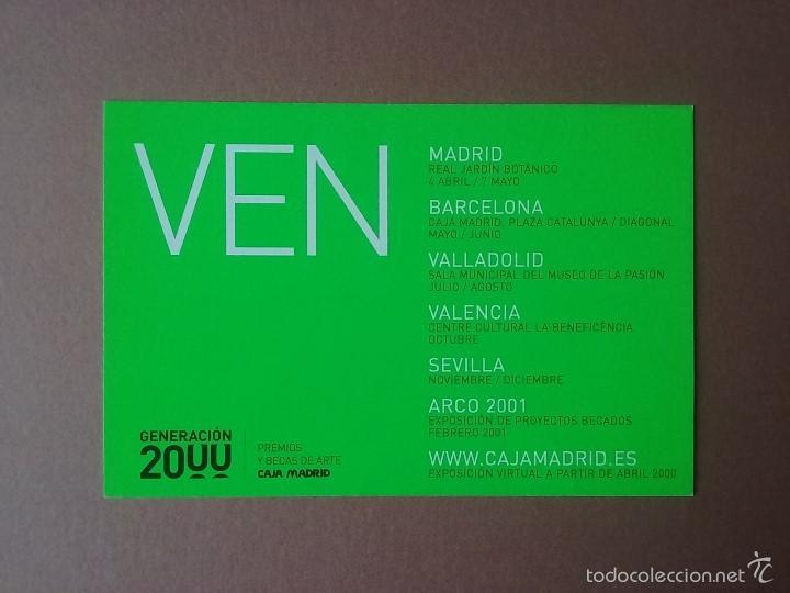 POSTAL TARJETA GENERACION 2000. PREMIOS Y BECAS DE ARTE. CAJA MADRID. (Postales - Postales Temáticas - Publicitarias)