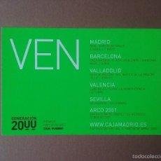 Postales: POSTAL TARJETA GENERACION 2000. PREMIOS Y BECAS DE ARTE. CAJA MADRID.. Lote 56671517