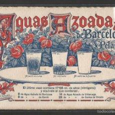 Postales: POSTAL PUBLICITARIA - AGUAS AZODADAS - BARCELONA - VER REVERSO - (43.194). Lote 56801180