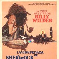 Postales: POSTAL PROGRAMA CINE LA VIDA PRIVADA DE SHERLOCK HOLMES , LA OBRA MAESTRA DE WILLY WILDER. Lote 56827708