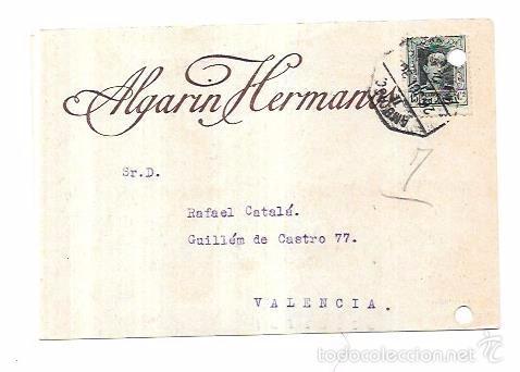 TARJETA POSTAL PUBLICITARIA. ALGARIN HERMANOS. SEVILLA. 1930. (Postales - Postales Temáticas - Publicitarias)