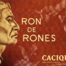 Postales: TARJETA POSTAL PUBLICITARIA * RON DE RONES/CACIQUE *. PERFECTO ESTADO.. Lote 57033012